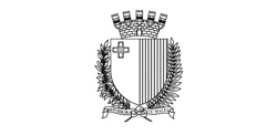 Malta Coat of Arms Black and White